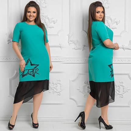 Шикарное женское платье ткань *Костюмная* б 52 размер батал, фото 2