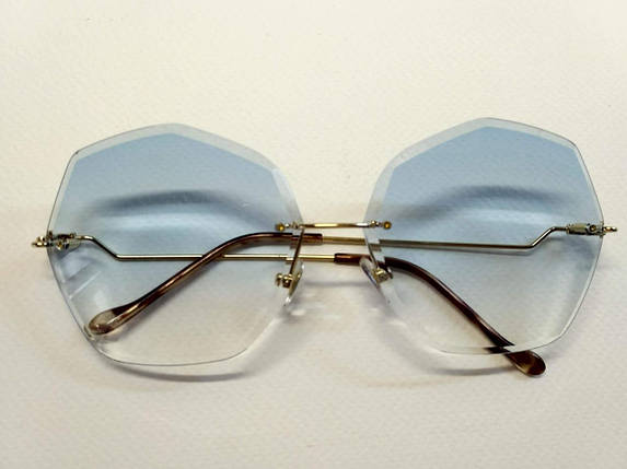 Воздушные очки с голубым градиентом, фото 2