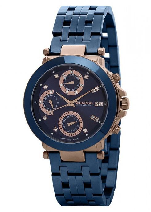 Жіночі наручні годинники Guardo S00778(m) RgBlBl