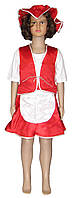 Костюм карнавальный детский Красная Шапочка 0717 атлас, р.р.104-140 см