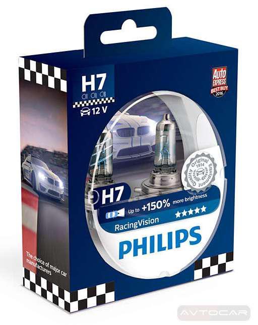 philips racingvision 150 h7 2 12972rv. Black Bedroom Furniture Sets. Home Design Ideas