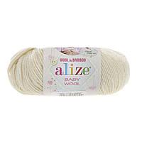 Alize Baby wool (Ализе Беби вул) 01 детская пряжа