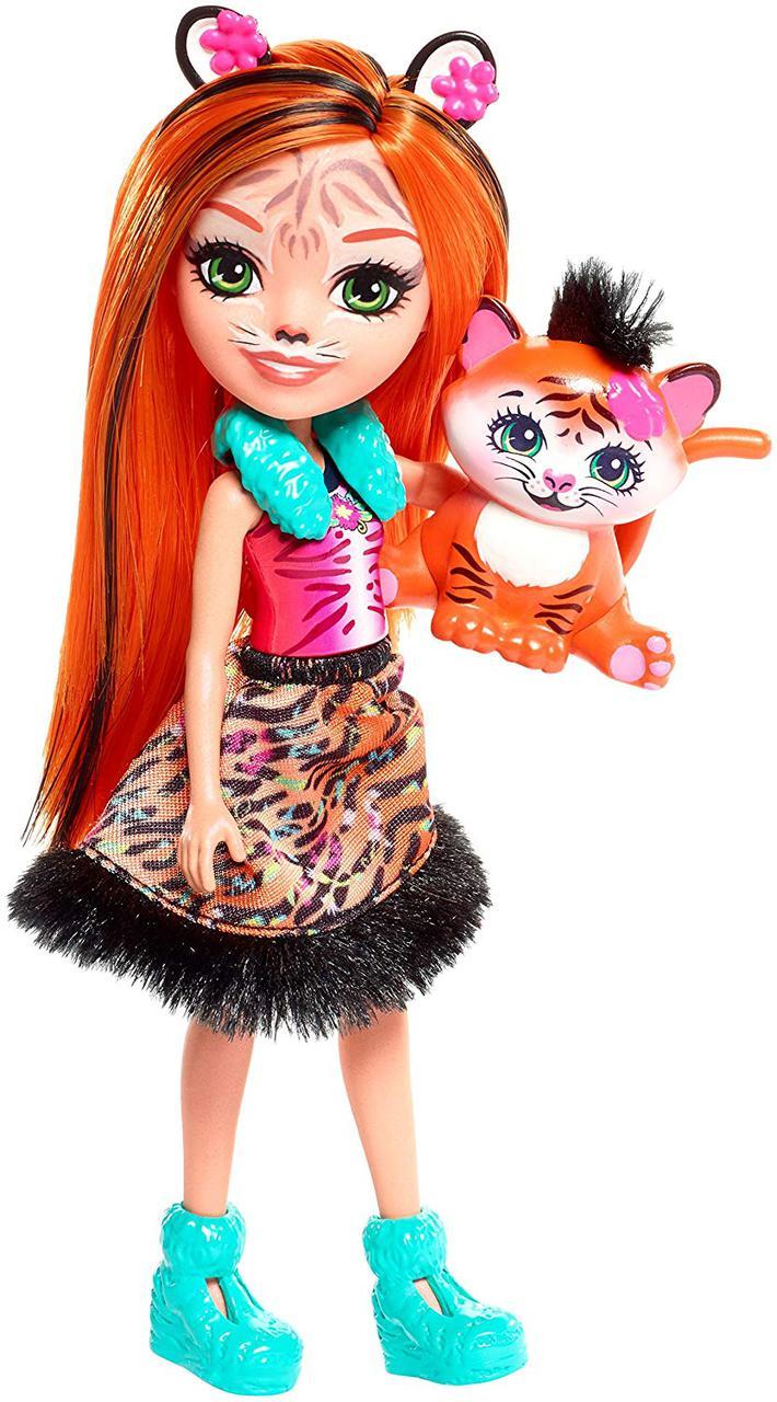 Энчантималс Танзи Тигр и маленький тигренок Тафт Enchantimals Tanzie Tiger and Tuft Figure