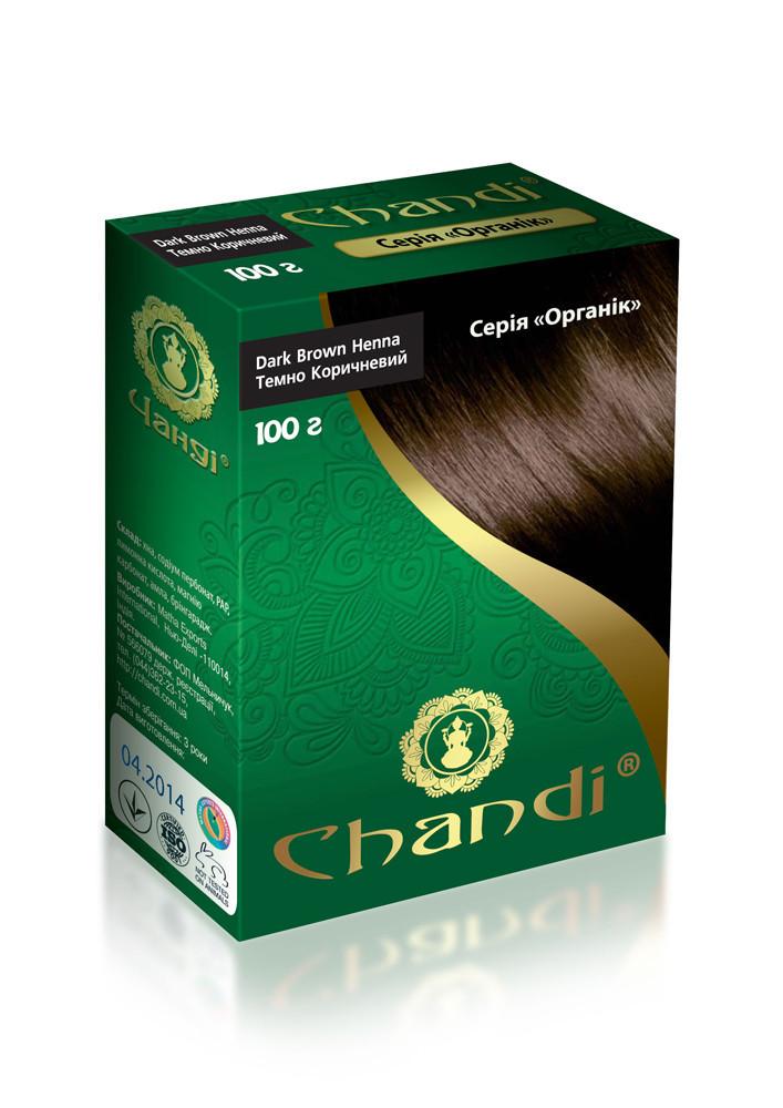 Краска для волос Chandi. Серия Органик. Темно-коричневый, миниатюра, 30г