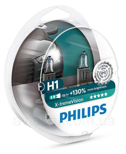 Philips X-Treme Vision +130% H1 12V 55W 2шт.