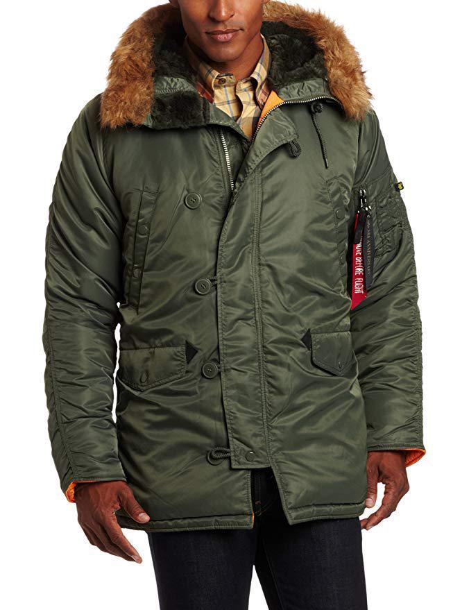 Зимняя куртка-парка Alpha Industries N-3B Slim-Fit Parka. Оригинал.