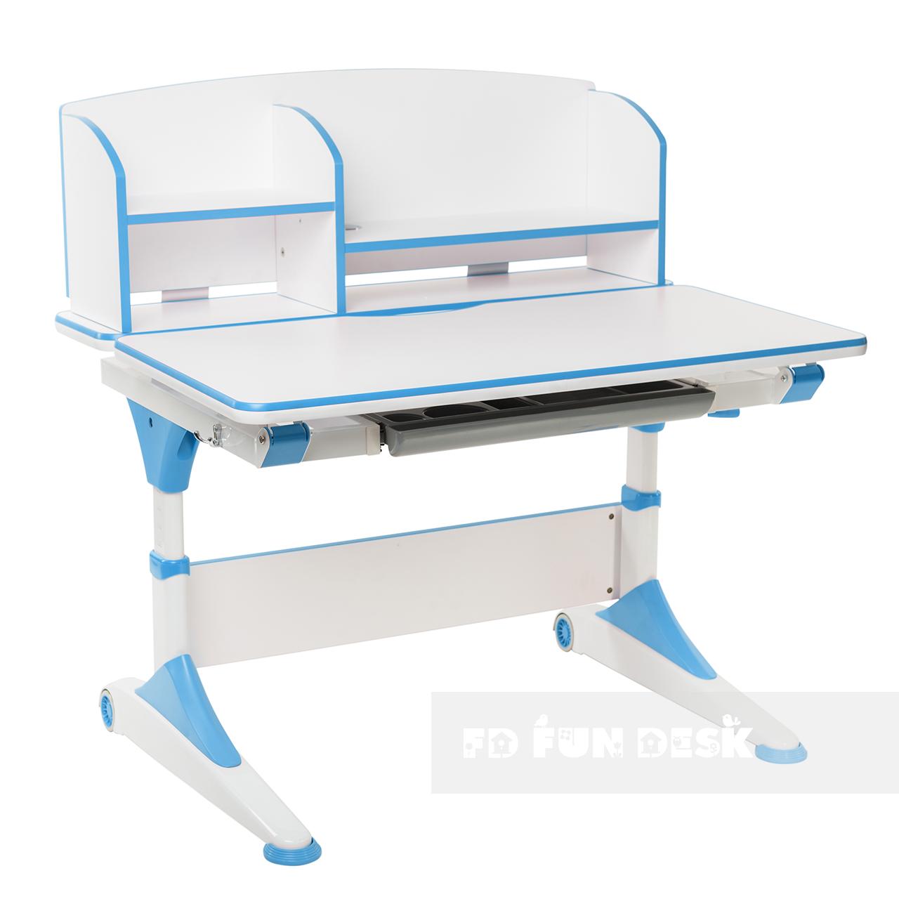 Парта-трансформер для школьника FunDesk Trovare Blue с надстройкой