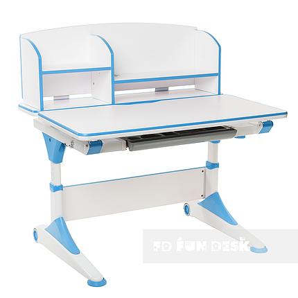 Парта-трансформер для школьника FunDesk Trovare Blue с надстройкой, фото 2