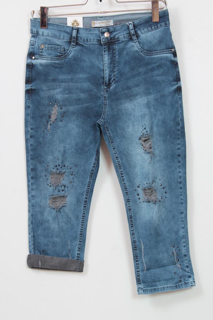 Джинсовые женские шорты больших размеров 48-54