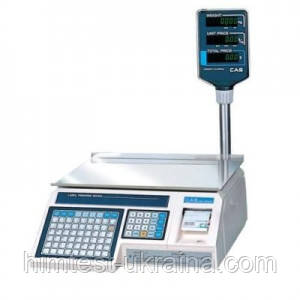 Весы электронные CAS с термопечатью LP-R-6 (в. 1.6) Ethernet со стойкой 6 кг (не поставляются)