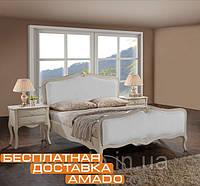 Элегантная мягкая кровать 1,6 Богемия (античный белый) Domini
