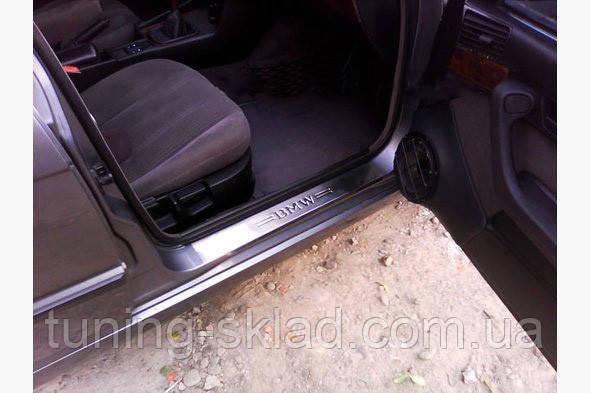 Хромированные накладки на пороги BMW 5 E34 (БМВ 5 Е34)