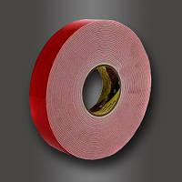 Двусторонняя клейкая лента 3M, 4912F, VHB,(19 мм х 16,5 м х 2,05 мм.). Монтаж фасадов.4912