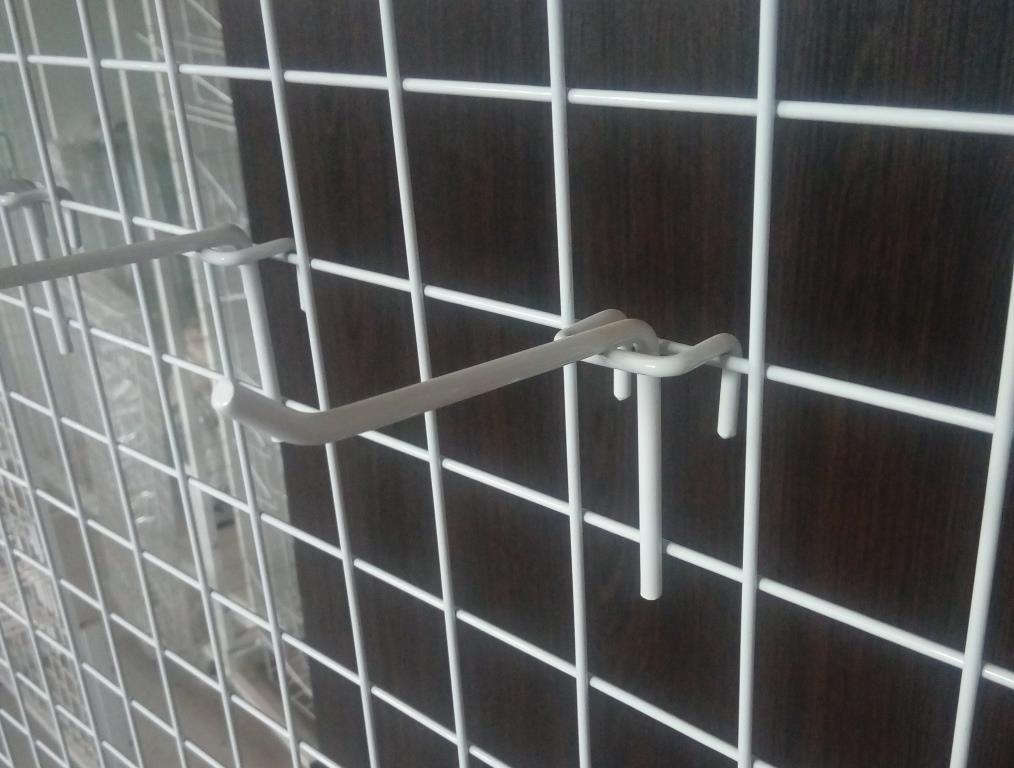 Торговий гачок (крючок) на сітку 100 мм одинарний, фото 1