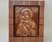 Владимирская икона Божией Матери в киоте В (210х250х36), фото 1