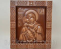 Владимирская икона Божией Матери в киоте В (210х250х36)