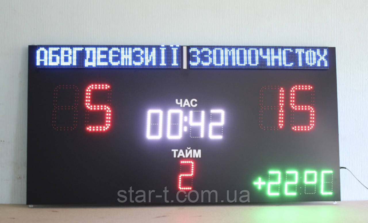 Спортивное табло с часами