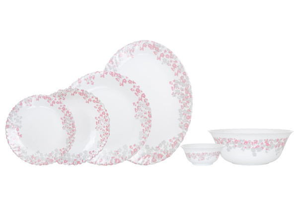 Столовый сервиз Arcopal Florina Pink&Grey 26 предметов N1081