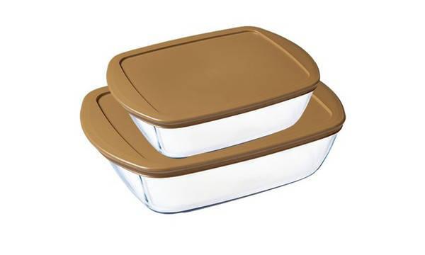 Набор форм для выпечки с крышками Pyrex Gold 2 штуки 912S889, фото 2