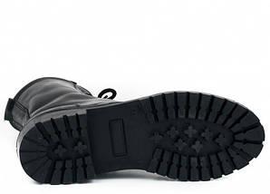 Берцы кожа Скорпион бортопрошивные НАТО демисезон черные, фото 3