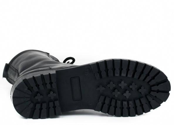 Берцы кожа Скорпион бортопрошивые НАТО демисезон черные, фото 2