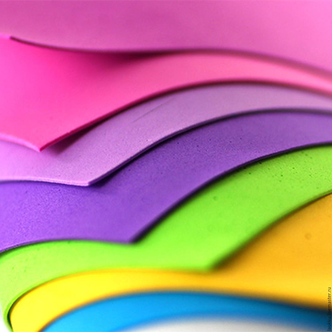 Эва, фоамиран 3 мм цветная 100х150 см