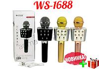 Черный караоке-микрофон Wster WS-1688 Bluetooth