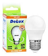 Лампа светодиодная DELUX BL50P 5Вт 4100K 220В E27