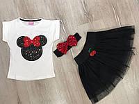 Модный костюм на девочку Микки Маус