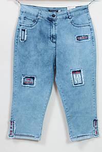 Летние джинсовые женские шорты с нашивками, размеры 48-54