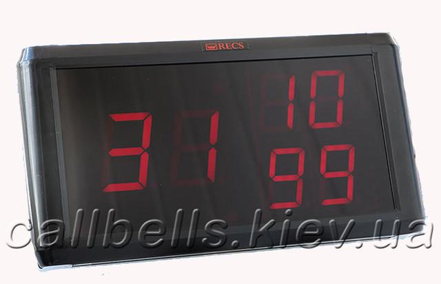 Фото приймача-табло системи виклику RECS модель R-1350