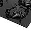 """Варочная поверхность газовая """"газ на стекле"""" Minola MGG 61005 BL, фото 4"""