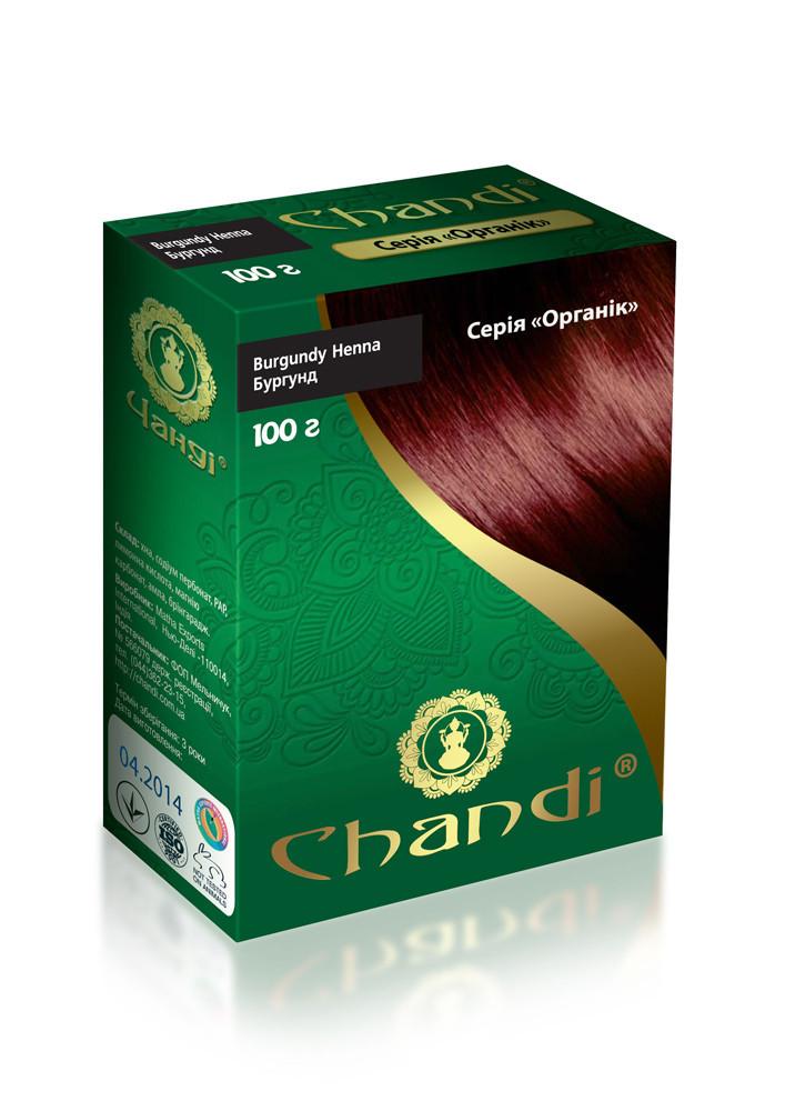 Краска для волос Chandi. Серия Органик. Бургунд, миниатюра, 30г