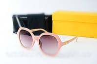 Женские солнцезащитные очки копия  Fendi 2020 розовые