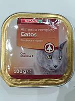Консервы для кошекSpar паштет с говядиной и печенью 100г. Испания