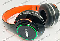 Наушники Sony Bluetooth ST-425 микрофон SD карта ,с LED подсветкой.микрофон ,sd карта