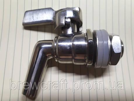 Металлический кран 3/8 для бочки / для ферментера / для ведра, фото 2