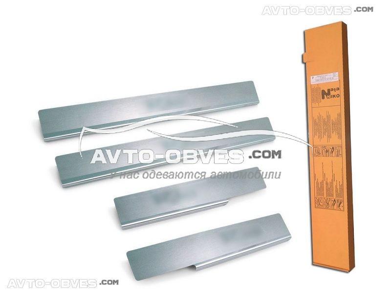 Накладки на внутренние пороги для Рено Логан III 2012 - …