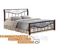 Кровать Ленора 1800*2000 М (каштан) Domini, фото 1