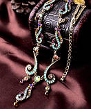 Уникальное ожерелье с цветными камнями ТБ-140, фото 3