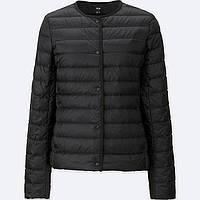 Женская черная легкая куртка на пуху Uniqlo, фото 1