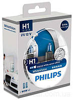 Philips WhiteVision H1+W5W 12V 55W комплект 2шт. + 2шт. 12258WHV, фото 1