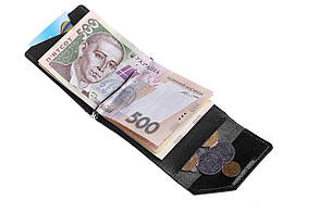 Зажим для денег Soldi, глянец, черный