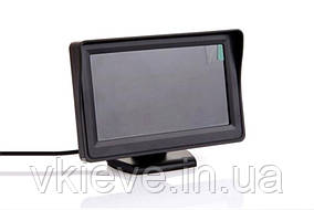 """Автомобильный монитор 4,3"""" дюйма с козырьком на 2 камеры,Ультра тонкий экран"""