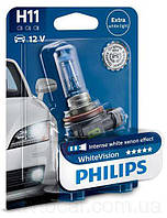 Автолампы Philips WhiteVision H11 12362WHV, 1 шт.