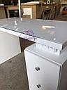 Маникюрный стол под стеклом и с тройной розеткой, фото 6