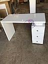 Маникюрный стол под стеклом и с тройной розеткой, фото 7