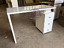 Маникюрный стол под стеклом и с тройной розеткой, фото 9