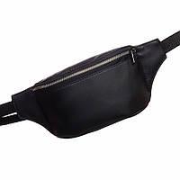 Чорна сумочка на пояс, бананка