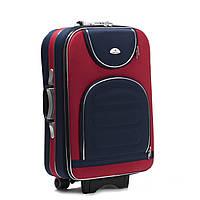 Чемодан Suitcase 801 A, малый Красный-синие карманы